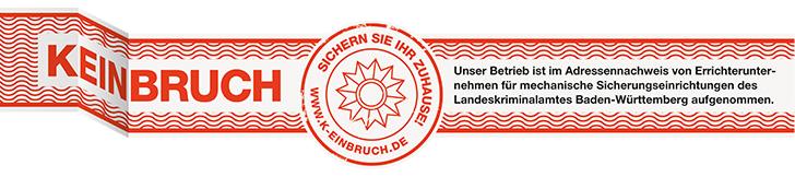 K-Einbruch Siegel, Landeskriminalamt Baden-Württemberg